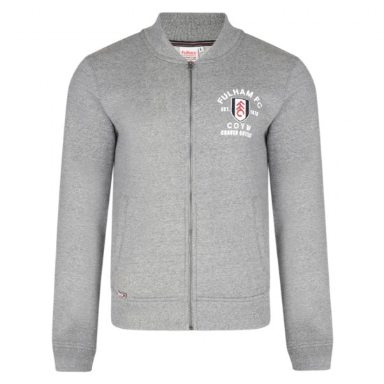 Fulham Zip Through Bomber Charcoal