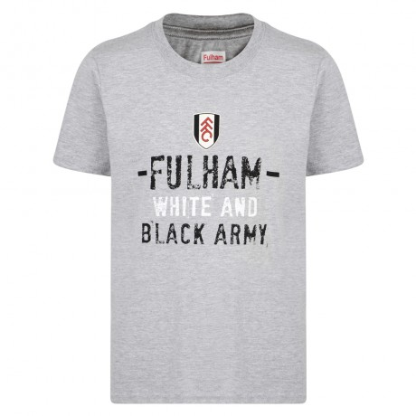 White and Black Army Boys Tee