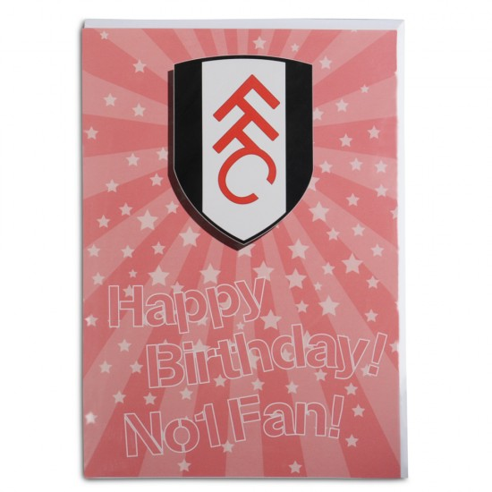 Happy Birthday No.1 Fan Card Pink