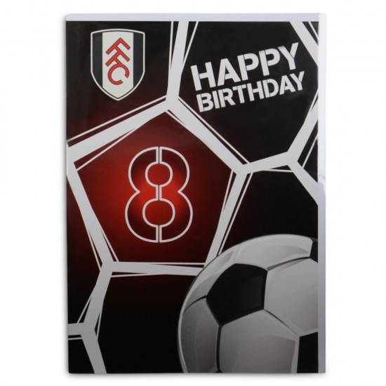 8th Happy Birthday Card