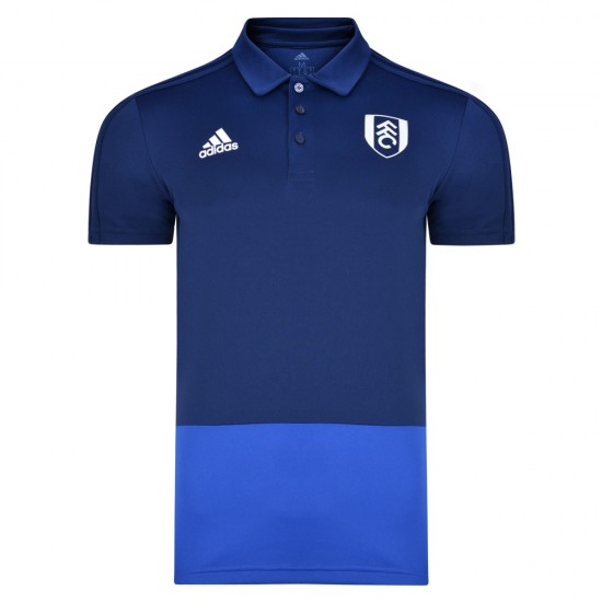 TW18 Fulham Football Club Mens Blue Travel Polo