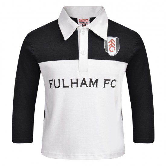 AW18 Fulham Long Sleeved Polo Black/White