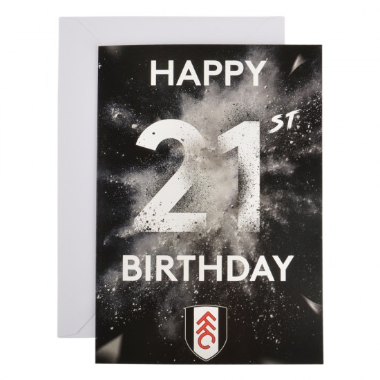 21st Happy Birthday Card