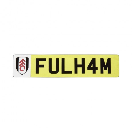 Fulham License Plate Window Sticker