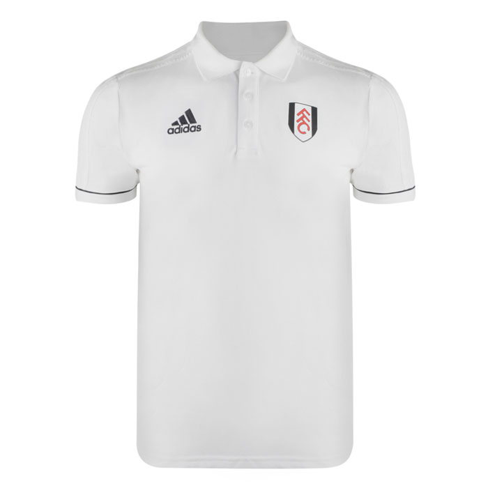 Adidas 17/18 Fulham White Travel Polo