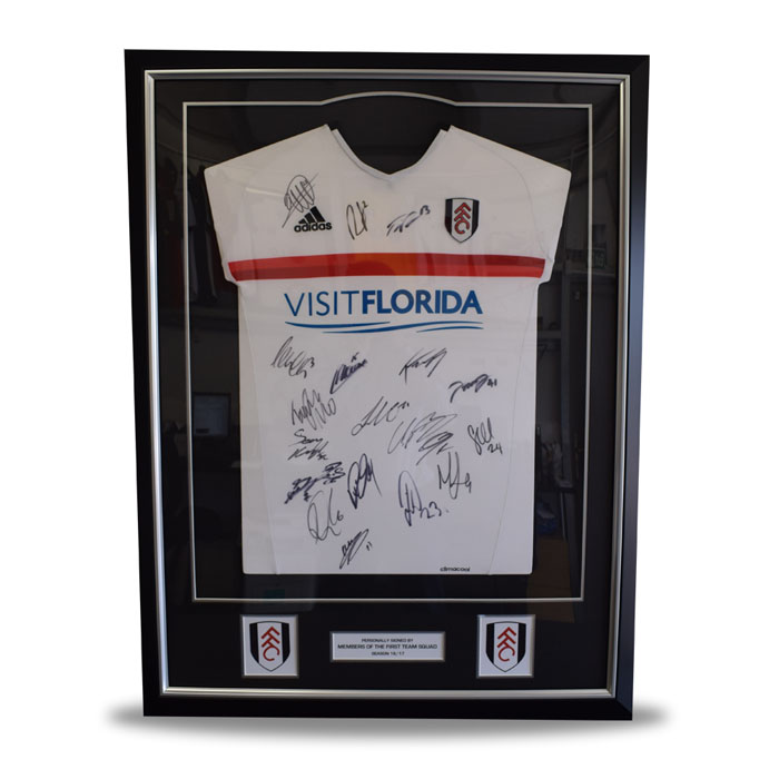 Fulham FC Signed Framed Shirt