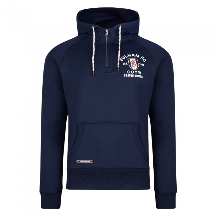 Fulham Football Club Quarter Zip Sweater Navy