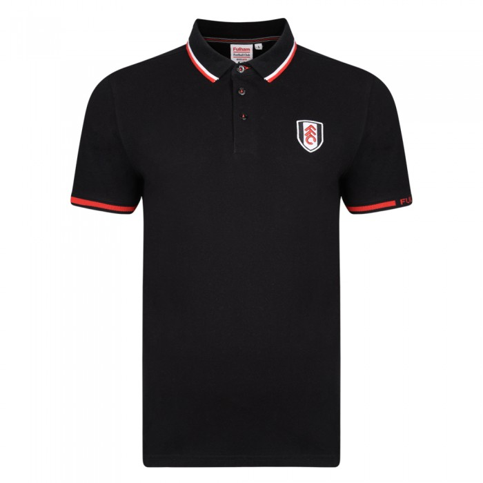 Fulham Black Tipped Polo
