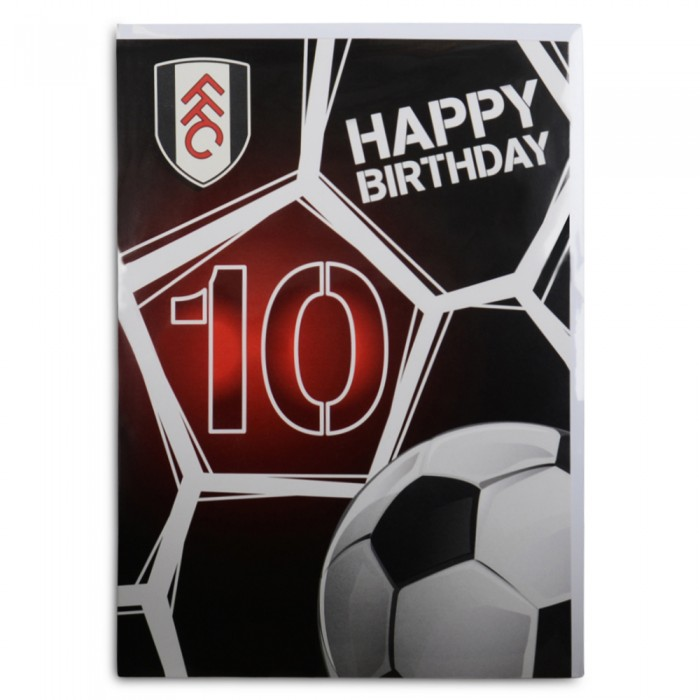 10th Happy Birthday Card