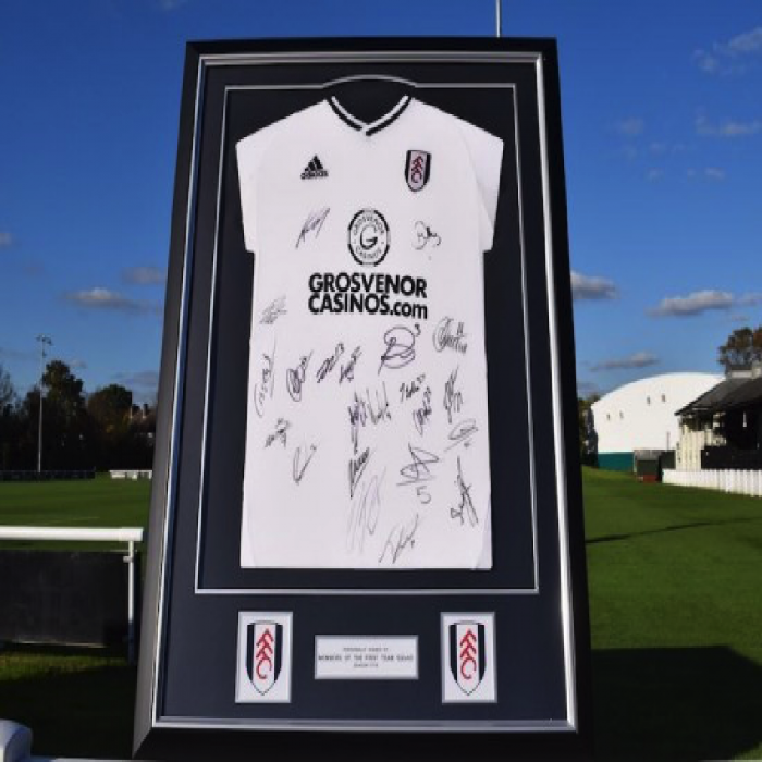 Fulham FC Signed 17/18 Framed Shirt