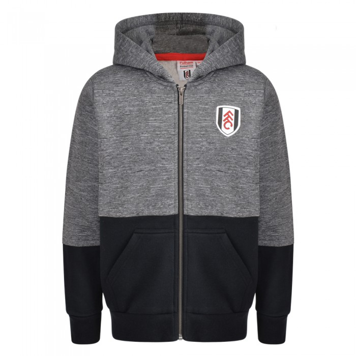 AW18 Boys Full Zip Colour Blocked Hoody