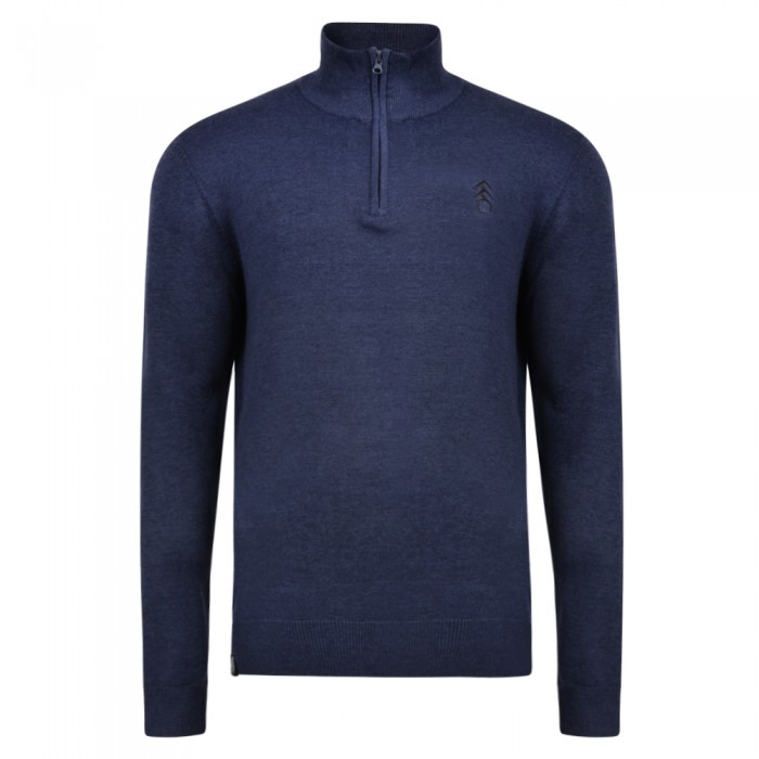 AW18 Fulham Quarter Zip Navy Sweater