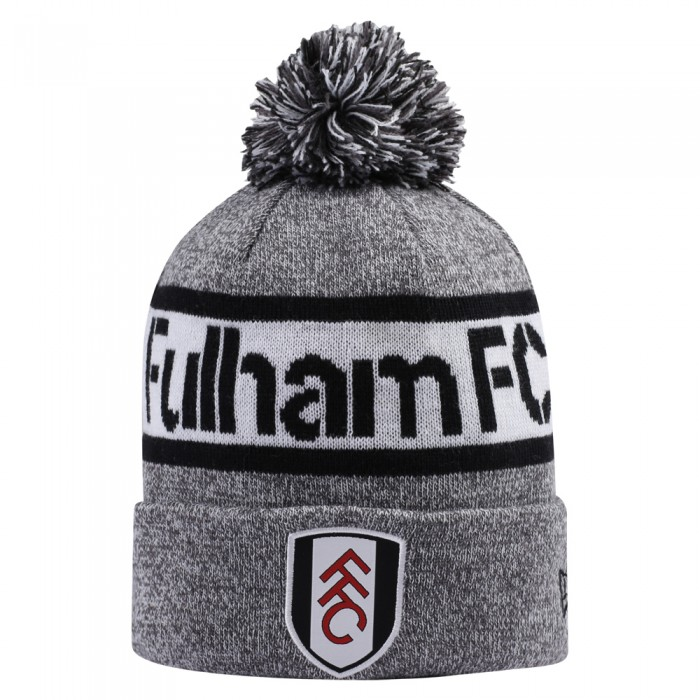 New Era FFC Jake Bobble Knit Hat Grey