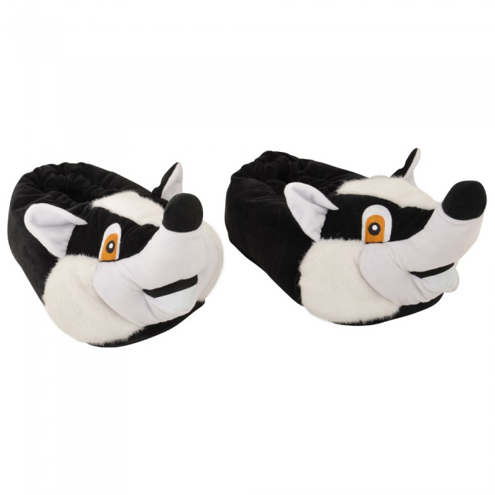 Billy the Badger Novelty Adult Slippers