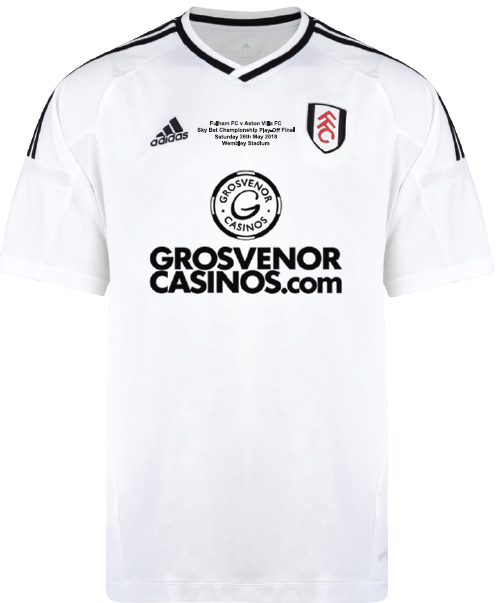 adidas 17/18 Fulham Home Play Off Shirt Adult