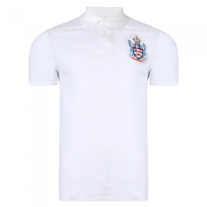 SS18 Retro Crest White Polo