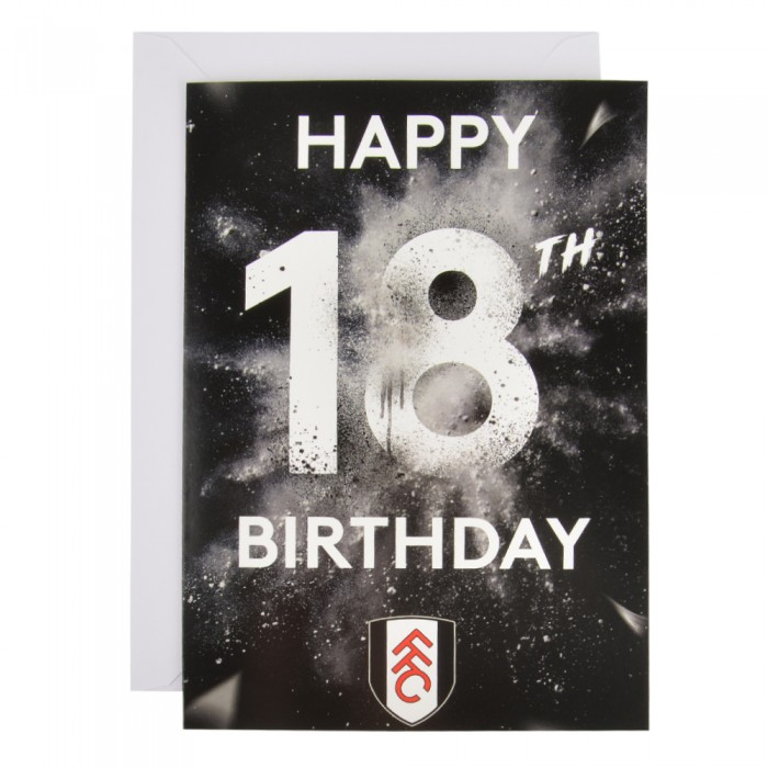 18th Happy Birthday Card