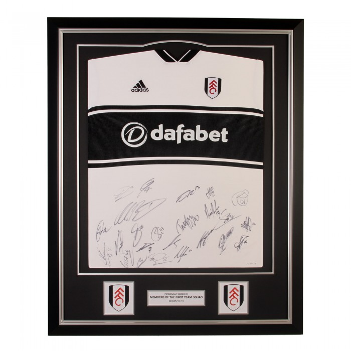 Fulham FC Signed 18/19 Framed Shirt