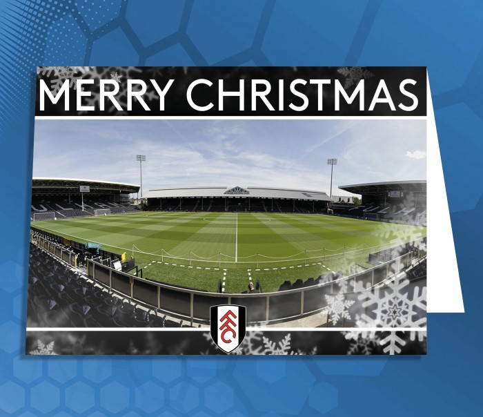 Merry Christmas Card (Craven Cottage)