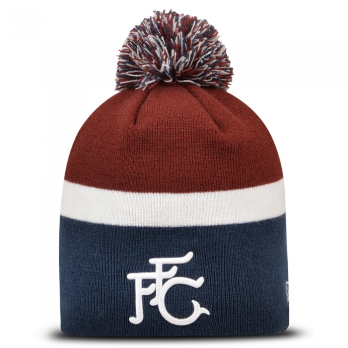 New Era FFC Retro Skull Knit Bobble Beanie