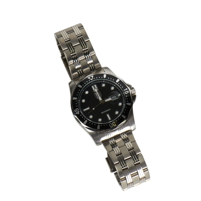 Fulham Sekonda Gents Chrome Quatrz Watch