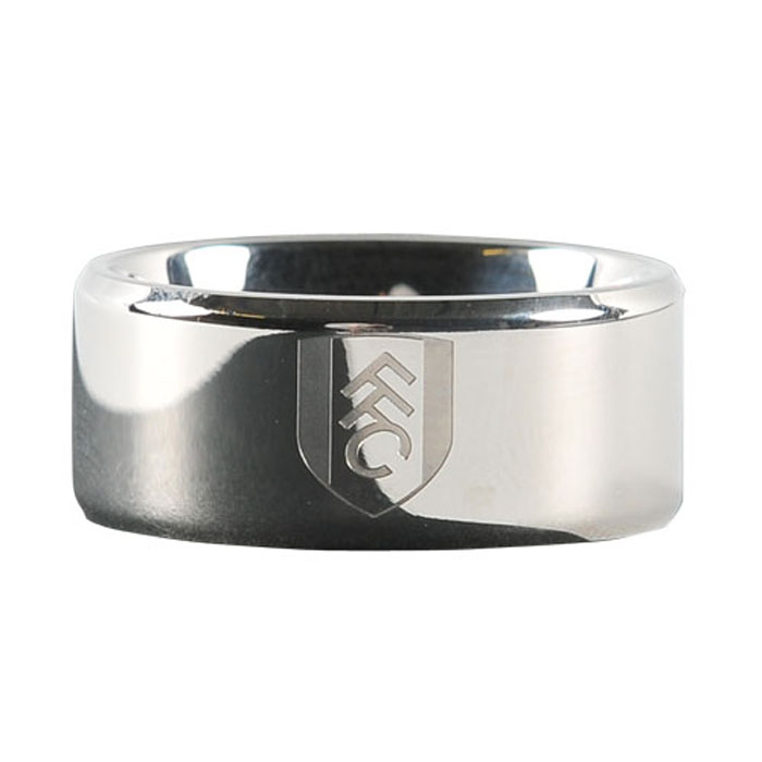 Gents Stainless Steel Crest Band Ring