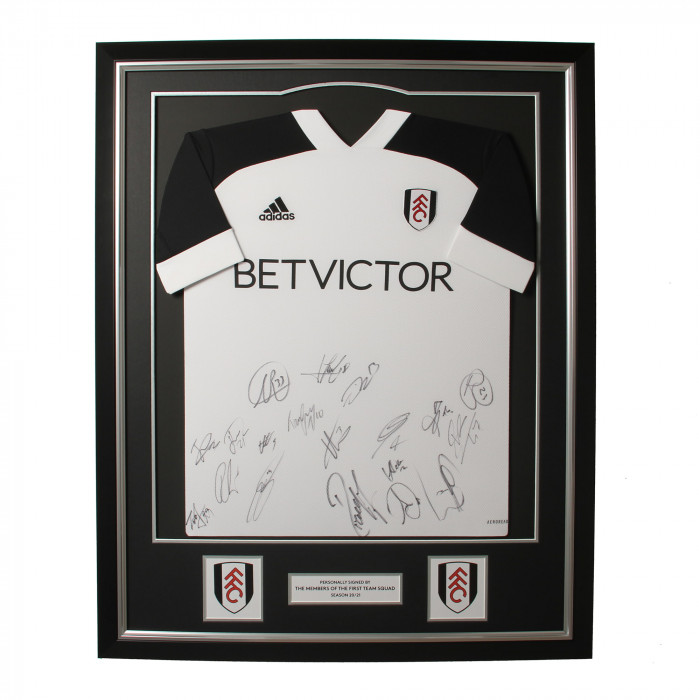 Fulham FC Signed 20/21 Framed Shirt