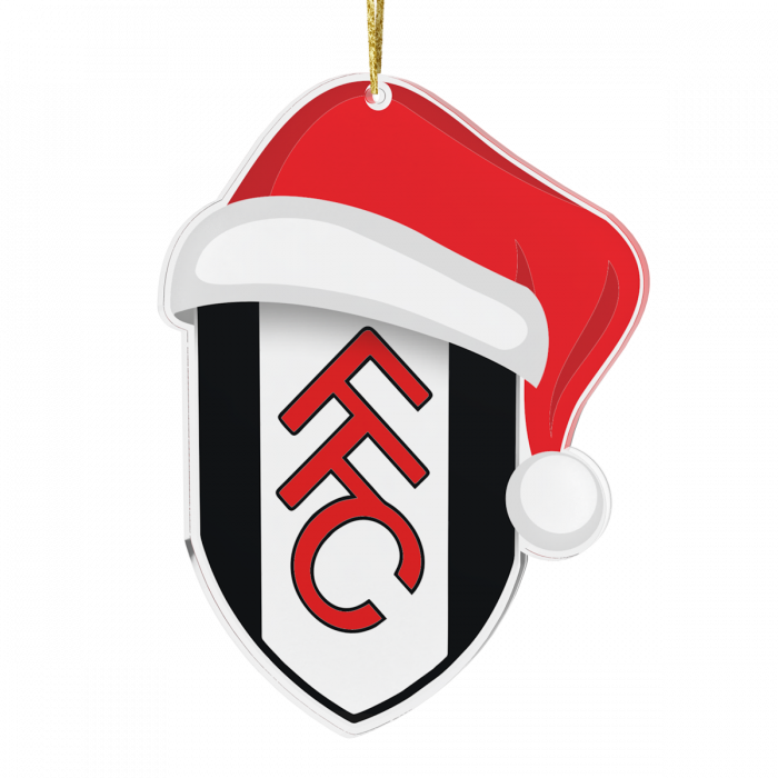 Christmas Tree Decoration - Crest with Santa Hat