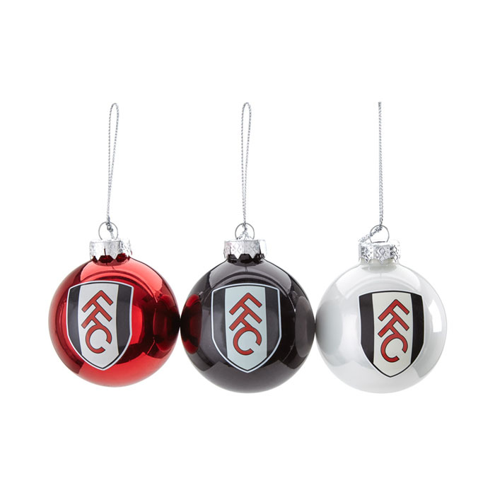 Fulham 3 pack Xmas Baubles