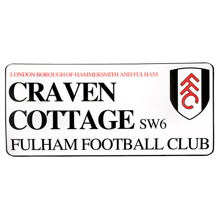 Craven Cottage Metal Street Sign
