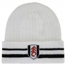 Fulham White Turn Up Beanie
