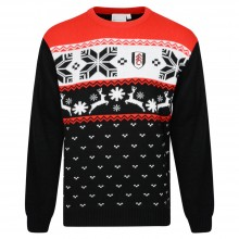 Fulham Fairisle Xmas Jumper Blk/Red