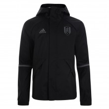 adidas 16/17 Fulham Black Rain Jacket Child