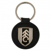FFC Silver Crest Leather Keyring